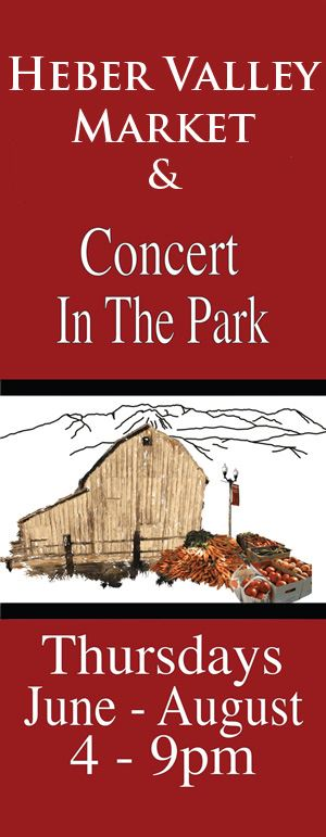 Heber Valley Market Concert in the Park Flyer